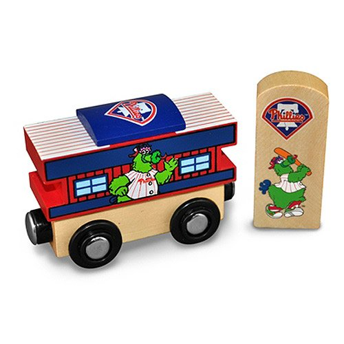 MLB Philadelphia Phillies Wood Train - Caboose
