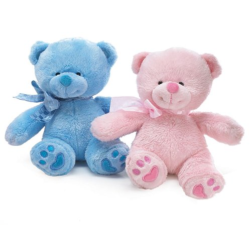 51X6YsBNYgL Cheap Price Plush Little Myra Pink and Blue Bear