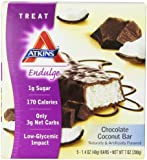 Atkins Endulge Chocolate Coconut Bar, 1.4 Ounce, 5 Count Bars