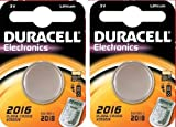 BRAND NEW 2 DURACELL 2016 Lithium Batteries CR2016 DL2016 ECR2016 Expiry 2019