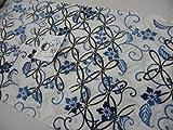 竺仙浴衣(ちくせん)綿芭蕉玉むし本染浴衣 七宝更紗26-518 お誂え仕立代込み 綿つむぎ浴衣反物