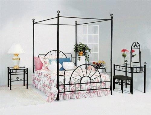 Black Metal Sunburst Canopy Bed Full Size (Bed) Frame Canopy Bed. u201c  sc 1 st  Canopy Bed & You Deserve It Black Metal Sunburst Canopy Bed Full Size (Bed ...