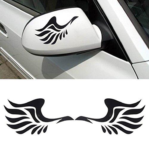 Tonsee Mode Auto Flügeldesign 3D Dekoration Aufkleber für Auto Seite Spiegel Rearview (schwarz)