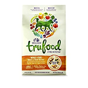 Wellness TruFood Baked Blends Natural Grain Free Dry Raw Dog Food, Chicken, Chicken Liver & Flaxseed, 3-Pound Bag