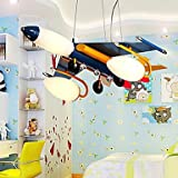 Artistic Stainless Steel Pendant Lights with 5 Lights Airplane Featured