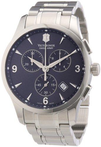 Victorinox Swiss Army - Reloj cronógrafo de cuarzo para hombre con correa de acero inoxidable, color plateado