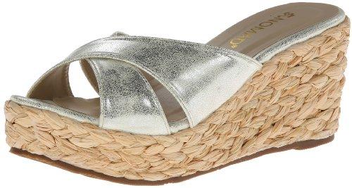 Nomad Women'S Bahama Ii Wedge Sandal,Silver,8 M Us front-861688