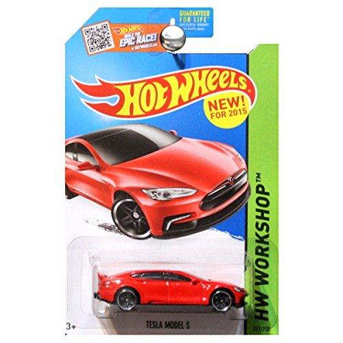 Hot Wheels, 2015 HW Workshop, Tesla Model S [Red] Die-Cast Vehicle #217/250 (Tesla Model S Model compare prices)