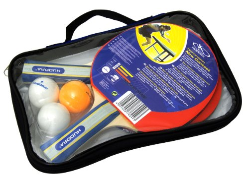 Hudora New Contest Table Tennis Set, 2 Bats, 3 Balls