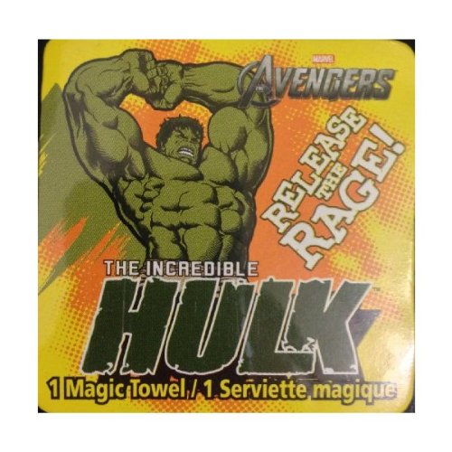 Incredible Hulk Magic Pop Up Towel Washcloth - Varied Designs