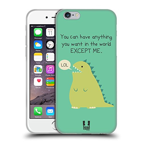 Head Case Designs Extinct Dino Nonsense E Cose Random Cover Morbida In Gel Per Apple iPhone 6 / 6s