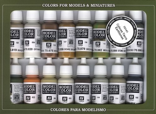 Vallejo Earthtone Colors Paint Set, 17ml