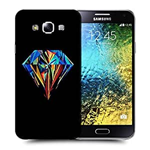 Snoogg Abstract Diamond Art Printed Protective Phone Back Case Cover ForSamsung Galaxy E5