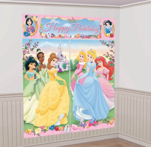Review Disney Princess Scene Setter Decoration Set (Green/Blue) Party Accessory