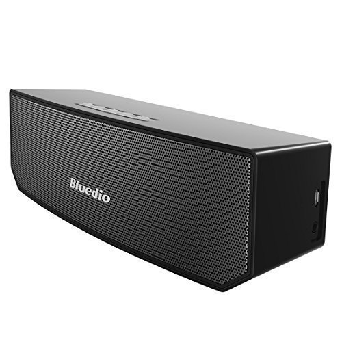 Bluedio BS-3 (Camel) Portable Casse Bluetooth Diffusore Altoparlante Revolution 3D Neodymium Magnets/52mm Ultra-big Drive Units/Rich Bass Wireless Soundbar/Excellent 3D Surround System Retail-Gift Packgage (Black)