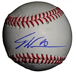 Dontrelle Willis Autographed ROLB Baseball, Baltimore Orioles, Florida Marlins, Proof Photo