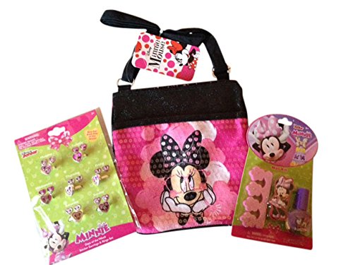Minnie Mouse Perfect Gift Set for Girls with purse, nail polish kit, rings - Great for any little girl (Nail Polish Handbag compare prices)