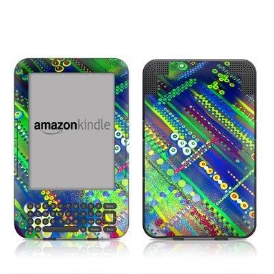 Circuit Board Design Protective Decal Skin Sticker For Amazon Kindle Keyboard / Keyboard 3G (3Rd Gen) E-Book Reader - High Gloss Coating