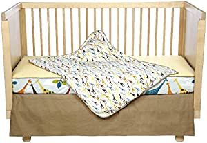 Skip Hop Complete Sheet 4 Piece Crib Bedding Sets, Giraffe Safari