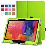 Moko Samsung Galaxy Tab PRO 10.1 Case - Slim Folding Cover Case for Galaxy TabPRO 10.1 SM-T520N Android Tablet, GREEN (With Smart Cover Auto Wake / Sleep)