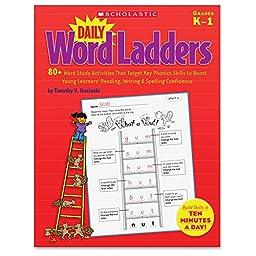 Scholastic Daily Word Kindergarten Ladders Book Education Printed Book