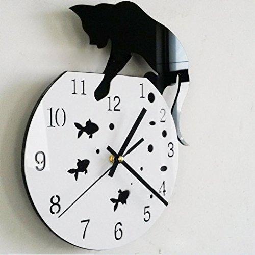 kingkor-naughty-cat-goldfish-acrylic-clock-wall-clock-modern-design-home-decor-watch-wall-sticker
