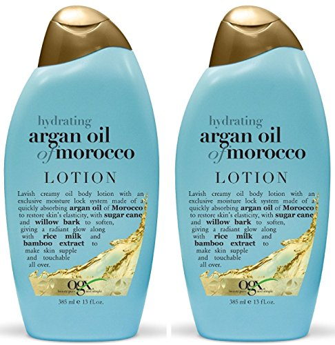OGX Hydrating Argan Oil of Morocco Creamy Oil Body Lotion 13 fl. oz (Pack of 2) (Argan Oil Lotion compare prices)