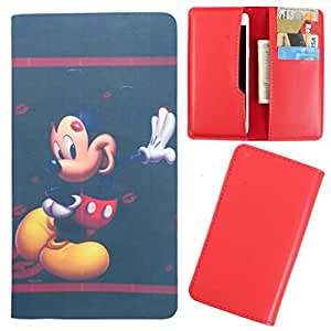 DooDa - For XOLO Cube 5 O PU Leather Designer Fashionable Fancy Case Cover Pouch With Card & Cash Slots & Smooth Inner Velvet