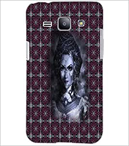 PrintDhaba Pattern Girl D-5649 Back Case Cover for SAMSUNG GALAXY J1 (Multi-Coloured)
