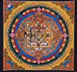 Hand Painted Kalachakra Mandala Thangka Painting From Nepal (003)