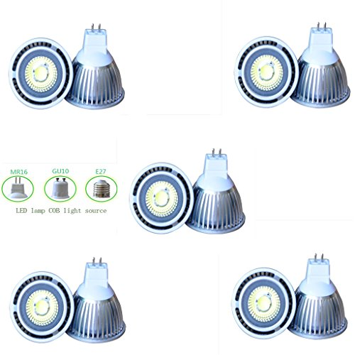 Lot Of 10 Pcs Dimmable 110V 3W E27 Cob Led Light Bulbs - 6000K Warm White Led Spotlights 30W Equivalent - 280Lm 35 Degree Beam Angle For Landscape Scene Home Lighting And Architectural Lighting