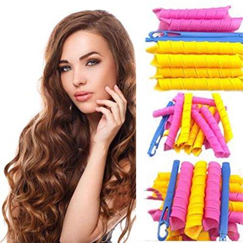 HENGSONG 18 pcs Magic Bigoudis DIY Kit Bigoudis Magique Curleur Cheveux Coiffure Outil