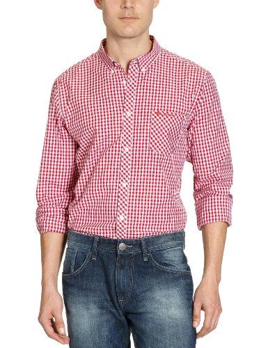 Ben Sherman MA00003 Men's Casual Shirt Cardinal Red Medium