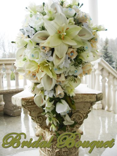 Wedding bouquets bridal bouquet silk flower wedding bouquet love PRINCESS GRACE CREAM IVORY