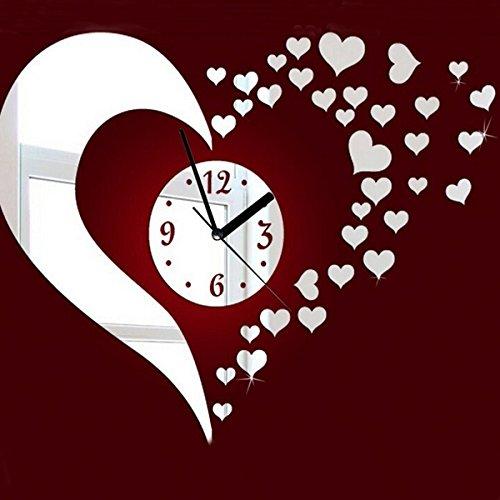 Acheter d coration miroir coeur 3d bricolage horloge for Acheter decoration