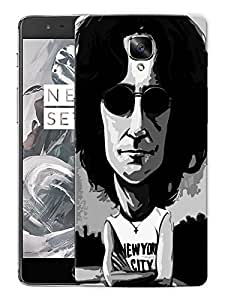 """John Lennon New York City - The BeatlesPrinted Designer Mobile Back Cover For """"OnePlus 3"""" (3D, Matte, Premium Quality Snap On Case)"""