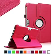 Fintie 360 Degrees Rotating Stand Case Cover For Samsung Galaxy Note 10.1 Inch Tablet N8000 N8010 N8013 - Magenta...