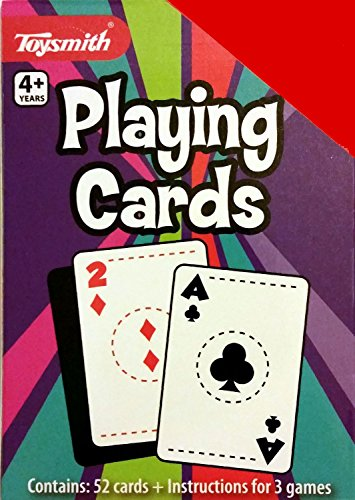 Standard Deck Playing Cards for Kids with Game Instructions - 1
