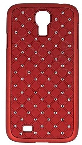 """Handy Back Hard Case Cover """"rot mit Strass"""" für """"Samsung Galaxy S4 Mini La Fleur bzw. Black Edition"""" Handy Tasche Schale Schutz Hülle Bumper Glitzer Bling"""