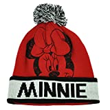 Red and Black Minnie Mouse Adult Size Pom Beanie