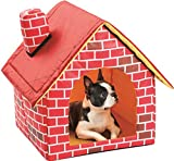 Etna Portable Brick Dog House Warm And Cozy Indoor / Outdoor, Great For Dogs, Cats, Kittens, Puppies, and Rabbits