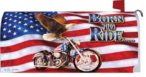 Mailbox Makeover Proud To Be An American Born To Ride By Custom Decor 18x21