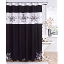 Beautiful Black And White Shower Curtains Phenomenal