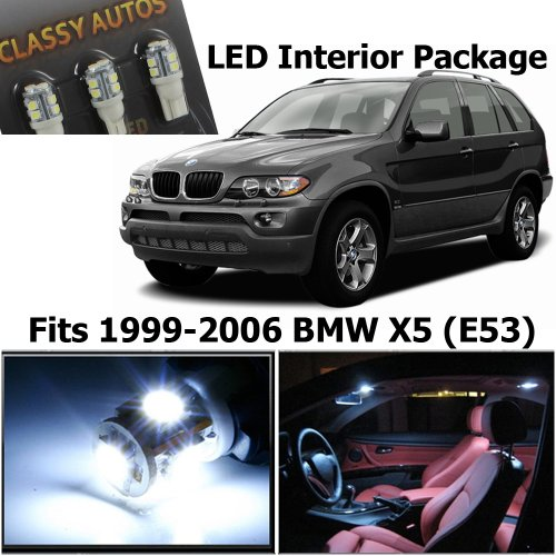 Classy Autos BMW X5 WHITE LED Lights Interior Package Kit M E70 (16 Pieces) (Bmw X5 Auto compare prices)