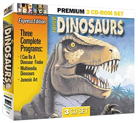 A World of Dinosaurs 3 CD-ROM Set (Jewel Case)