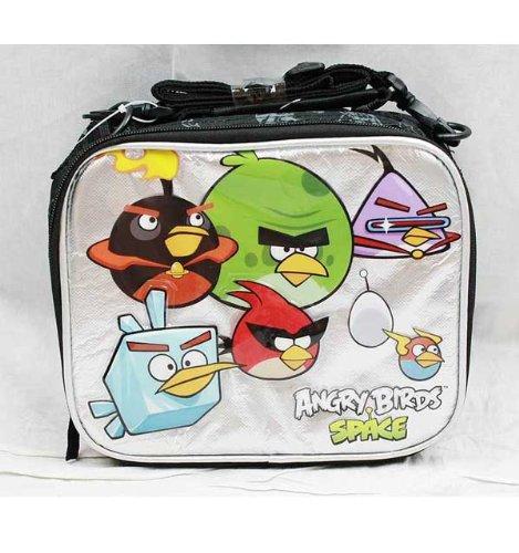 Imagen de Bag Lunch - Angry Birds - Space (Negro / Plata)