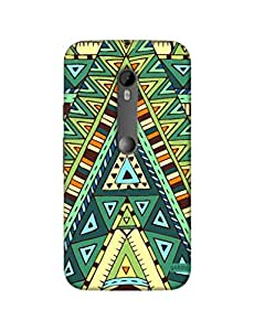 Gobzu Printed Hard Case Back Cover for Moto G3 / Moto G 3rd Generation - Triangle Pattern-1