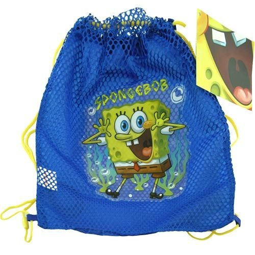 Nickelodeon Sponge Bob Sling Tote Bag Net Front with PVC Character - 1
