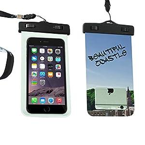 SMOSSE waterproof bag/ snowproof/ dustproof/ sandproof bag for iphone 6S Plus, 6P,6S,6, Sumsang Galaxy S6, S4- beautiful coastle