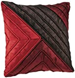 Shahenaz Home Shop Saibya Royal Poly Dupion Cushion Cover - Red and Maroon